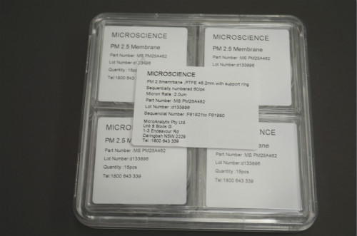 PM2.5 MEMBRANE- Catalogue Number MS PM25A462